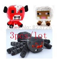 selling 3pcs/lot minecraft toys plush doll Children  Sheep & Squid & Mooshroom Baby brinquedos Free shipping GG-178039