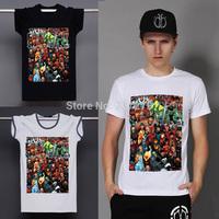 New Arrival T Shirt Men Animation Comics Group Shot Camisetas Tshirt Sport Fitness T-shirt Clothes Cotton Normal Round Top S-2XL