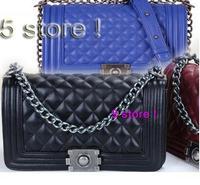 Classic Candy Colors Genunine Leather Le Boy Crossbody Chain Shoulder Mini Clutch Wallet Women Bag Free Shipping