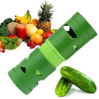 Free Shipping Vegetable Cutter Fruit Slicer Spiralizer Easy Garnish Veggie Twister Processing Device - Green HG033
