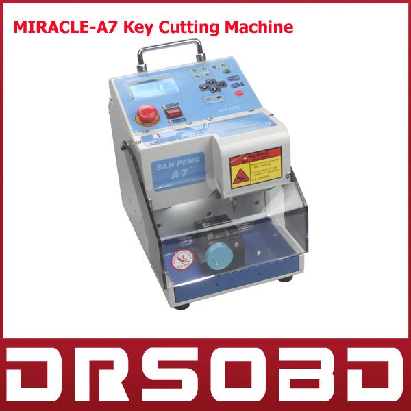 2015 Original Korea MIRACLE-A7 Key Cutting Machine Car Key Cutter Full Automatic Electronic Three-Axe Key Cutting Machine(China (Mainland))