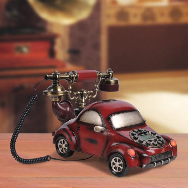 Antique vintage telephone car style household decoration(China (Mainland))