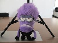 30 cm Despicable ME 2 Minions Purple Evil 2 eyes Plush Doll Toy new arrival