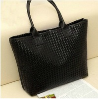 2015 new handbags Korean version of casual knit indentation commuter bag lady handbag women bag 8 colors