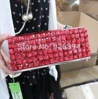 Acrylic rhinestone charm personalized luxury fashion wallet PU purse party ladies handbag chain shoulder bag clutch evening bags