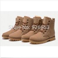 Fashion Women Winter Ankle Boots Faux Leather Men Winter Autumn Botas Lace Up Casual Ladies Shoes Bottes Wholesales