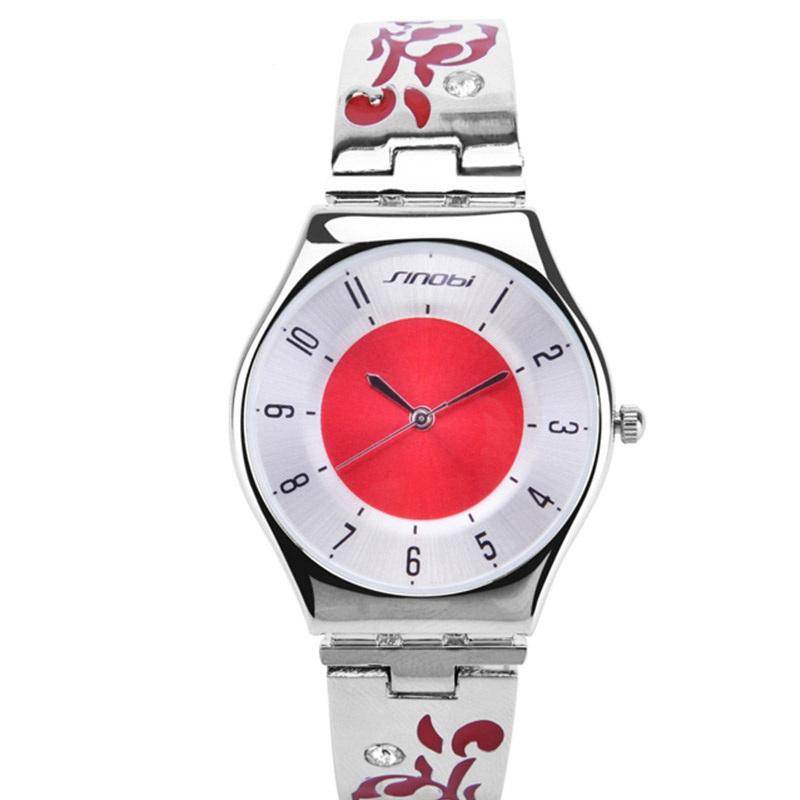 Sinobi Brand 2014 New Arrival Originals Collection Diamond Bracelet Quartz Watch Women Fashion Dress Crystal Gift Wristwatches(China (Mainland))