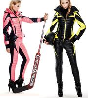 clj 2014 winter frozen women motorcycle vitality candy color flies so neon set female casual dress down coat ski suit jacket