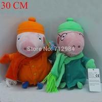 2pcs/lot Peppa Pig Family Winter Pepa Pig Plush Toys George Daddy Mummy Pig Stuffed Animals Plush Children Toy Boneca Brinquedos