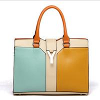 Free Shipping Y-shaped fashion handbags High quality PU handbag Classic handbag