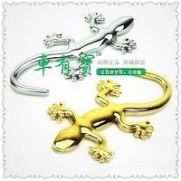 Gecko solid gold silver car sticker two color optional/ 3D car sticker/car modification/car decoration