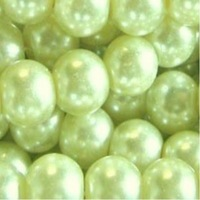 200 pieces 10mm Glass Pearl Round Beads - Pale Green  H1315