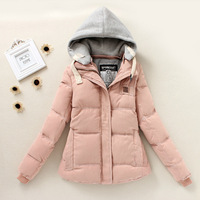 High Quality 2014 winter fashion women slim thicken warm long hooded cotton padded coat large size 4 colors M-XXL G 355