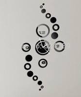 Acrylic Mirror wall clocks Vintage Quartz Clock Home decor DIY Circle Wall stickers relogio de parede Modern Design