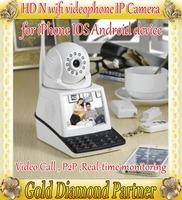 Network Video phone Camera Video camera Wifi IP CCTV Camera with Pan/Tilt TF Card Slot and IR Cut Free shipping
