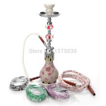Бесплатная доставка ведущих мировых брендов красивая ваза для цветов одна труба кальян кристалл награжден шиша эксклюзивный дизайн розовый бар стекло кальян трубы