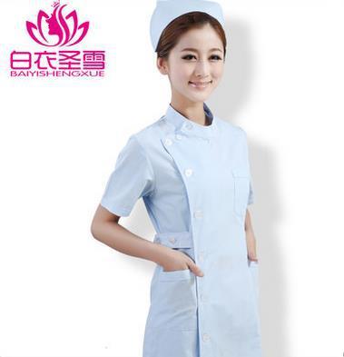 medical uniforms hospital summer spring doctor short sleeves medical scrubs women nurse Work clothes lab coat Free shipping(China (Mainland))