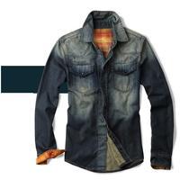 Retail Wholesale Autumn Spring Men's Jacket Shirts Casual Denim Classic Jeans Shirts For Men 2014 New Outwear Shirt 8802