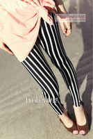 Vertical striped fashion leggings for women comfortable soft milk silk liquid xl legglings fitness casual hirstmas gift VQ020