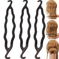Fashion Women Ladies Magic Hair Twist Styling Clip Stick Bun Maker Braid Tool Hair Accessory