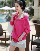 2014 Hot Sale Europe New Fashion Style Leisure Loose Korean Loose Bat Long Sleeved Casual Hooded Coat Rose