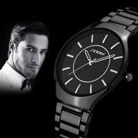 SINOBI New Business Luxury Jewelry Men Casual Brand Watches,Fashion Men Water Resistant Movement Slim Leisure Steel Quartz Watch