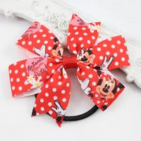 Boutique Bow Hair bands Minnie Bow Hair Tie Elastic Hair Bands for Baby Girls Newborn Children Hair Accessories 10pcs