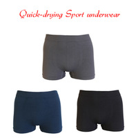1PC High Quality Outdoor Sport Quick Dry Anti-sweat Underwear Men Cycling Sportswear Boxer Shorts (Blue & Gray & Black)