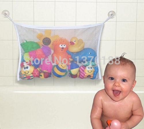 Free shipping new Kids Baby Bath Tub Toy Bag Hanging Organizer Storage Bag Large 45 x 35cm(China (Mainland))