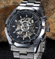 2015 new fashion men's mechanical watches. Stainless steel bracelet luxury brand of military watches, men watch sports gifts