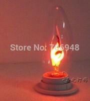 E27 3w candle light bulbs 90-265v flame blinking effect