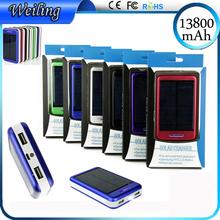 Portable Power Banks 13800mah power bank solar Portable Charger Power Bank for smartphone ipad camera