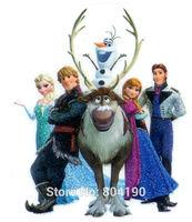 Frozen Princess Elsa Anna Kristoff Olaf Hans Sven Snow Queen Iron On Transfers MOVIE Cartoon Patch Logo Badge Free Shipping