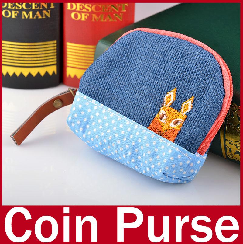 Retro Women's Girl Purse Coin Card Key Zipper Bag Case Handbag Clutch Cute Coin Purse