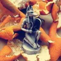 G10-X003 Hot sale handmade Tin alloy Egyptian Anubis jackal patron small ornaments wolf model 1pcs