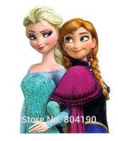 Frozen Princess Elsa Anna Sisters Girls Snow Queen Iron On Transfers Film TV MOVIE Cartoon Patch Logo Badge Free Shipping