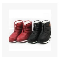 Free Shipping large size  2014 Autumn and winter Male and female models  snow boots / Space waterproof boots flat for mother