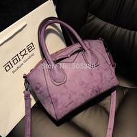 Bow bags 2014 fashion winter scrub smiley bag women's handbag shell bag one shoulder cross-body handbag