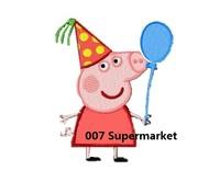 Peppa pig Birthday Balloon Cartoon Kids Iron On Patch Children Kids DIY gift card decor Customized Order Welcome