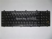 Laptop keyboard for MSI black UI US-International with frame & backlit V123322DK1 UI S1N-3EUS2K1-SA0