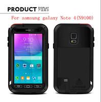 LOVE MEI Powerful shockproof waterproof Corning gorilla glass+Aluminum Metal Armor case for Samsung Galaxy Note 4 N9100