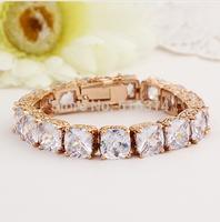 Neoglory Rhinestone aaa Zircon Charm Bead Tennis Bangles & Bracelets For Women Fashion Jewelry Accessories Gift 2014 New