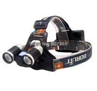 3000 Lumens 2 x CREE XM-L  L2 LED  Headlamp Rechargeable Headlight Head Torch Flashlight  Free Shipping
