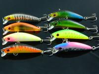best selling minnow fishing lures 7cm 8.1g 8pcs 6# hooks swim minnow baits plastic fishing tackle Hard Bait lures free shipping