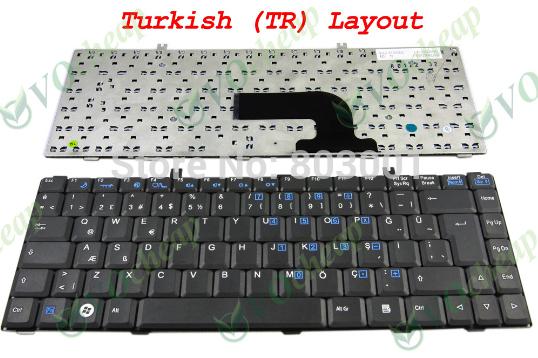 QWERTY Hot sale laptop computer keyboard for Fujitsu Amilo La1703 UK-TR Turkish Layout(China (Mainland))