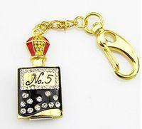 Jewelry crystal pen drive delicate perfume bottle keychain model USB flash drive 2.0 Pen memory U disk 4GB 8GB 16GB 32GB