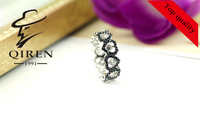 cute heart shaped   925 silver woman ring /  ring woman attached with star Cubic zirconia