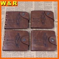 factory outlet wholesale famous brand retro crazy horse leather men wallets vintage leather Bailini wallet for man