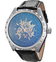 2015 men's mechanical watches, luxury casual brand leather strap quartz watch. Military Men Sport Watch