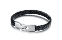 Personality Men Bracelet Jewelry Accessories High Quality Stainless Steel Leather Bracelets for Men 3pcs/lot,BC1679